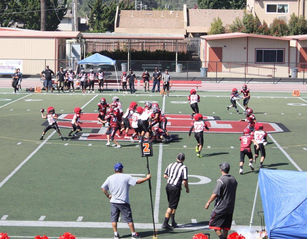 2018 Junior team plays at Santa Paula stadium.