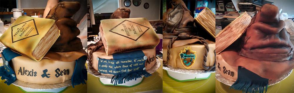 Harry Potter Engagement Cake