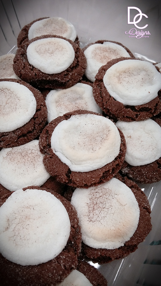 Hot chocolate cookies with Marshmellow