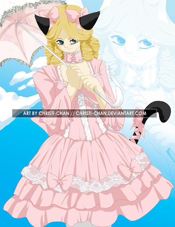The commissioner herself as a lolita kitty.