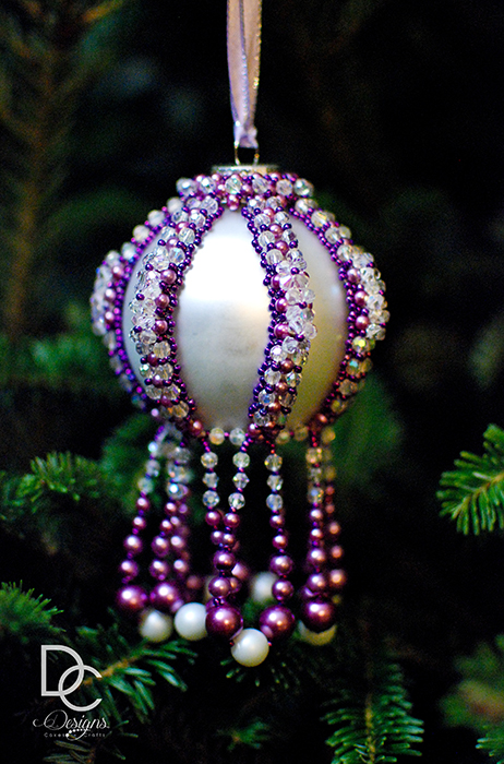 Strung beaded ornaments.