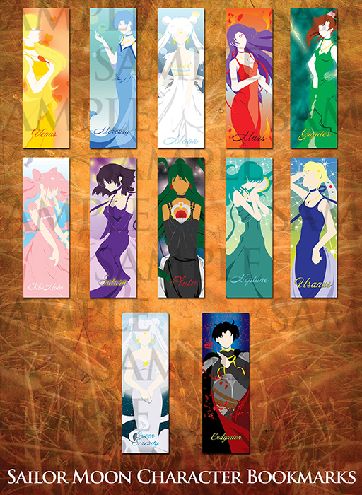 Sailor Moon bookmarks