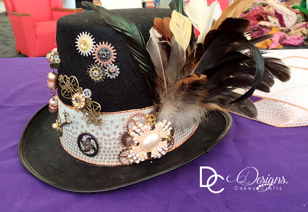 Custom ordered steampunk hat.