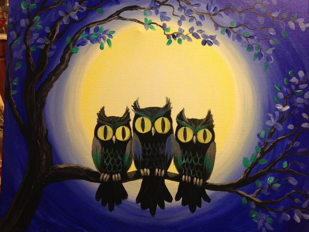 Wine and Design Owls