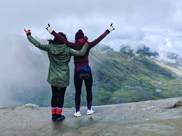 Our only limit is our mind. . . . Feeling proud, accomplished, and blown away by what we can do when we let go of doubt, fear, and self limiting beliefs.  17,000ft in the sky - we made it to Mt. Everest base camp heights today!  Stay tuned for more; currently grounding this migraine and these muscles.❤️ Rainbow Mountain, you are MAGIC! . . . #yourmajesty #mystical #magical #wisdom #journey #innerpeace #ancientwisdom #soulspots #speechless #rainbowmountain #travelspirit ##18000ft #peru #highaf #surreal #chaseyourdreams #wanderlust #adventurespirit #dreamchasers #dreamweavers #trekking #mindovermatter #intuition #followyourheart #trustyourgut #itsallinside #vitaltheory