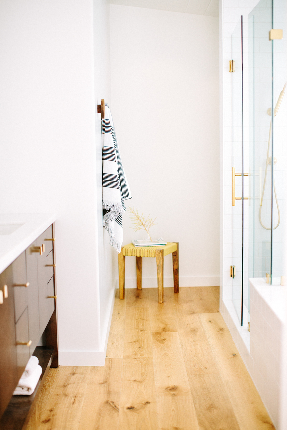 Modern bathroom space design by Carly Waters Style
