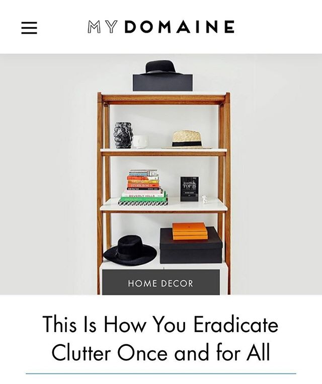 Wanna find out how to eradicate clutter once and for all ? Check out my interview over on My Domaine. Link in profile. 🤗🤗🤗