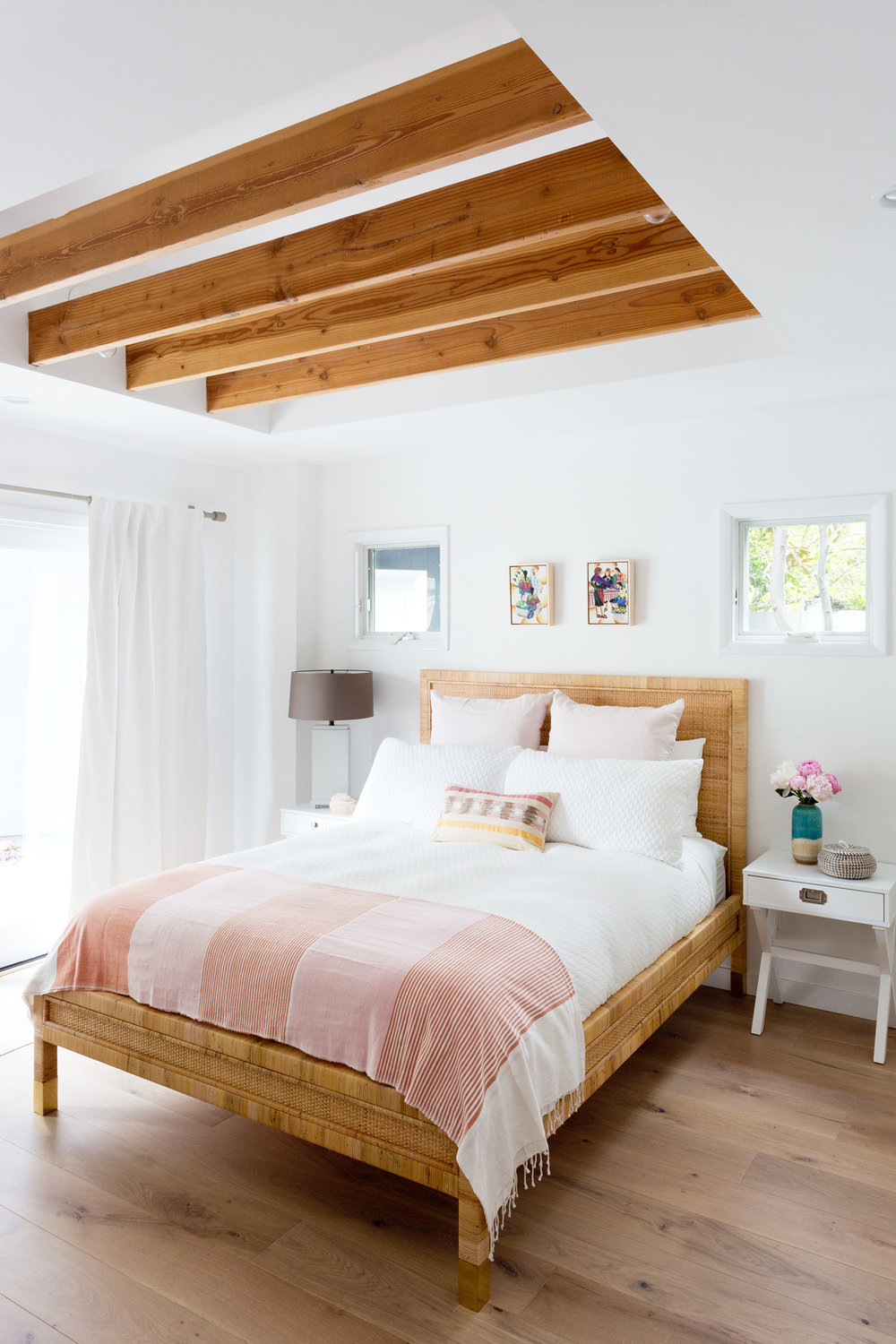 Bright & Light bedroom design by Carly Waters Style