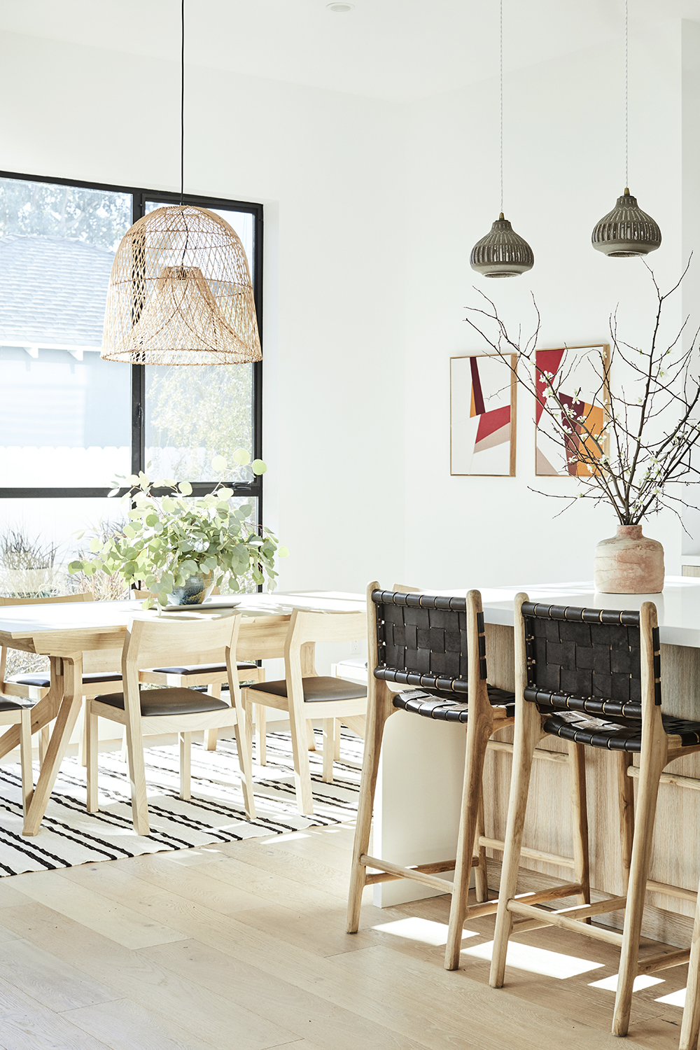 Modern kitchen styling decor by Carly Waters Style