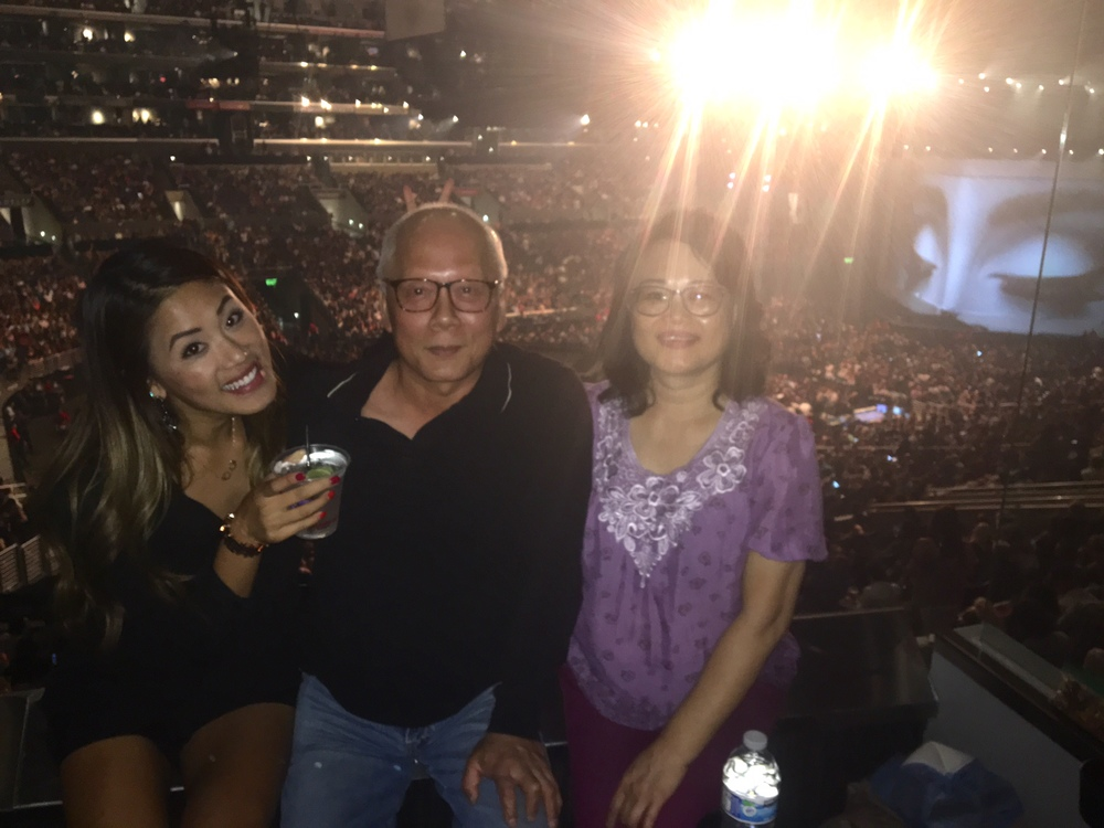 I took my parents to their first concert at Staples :)