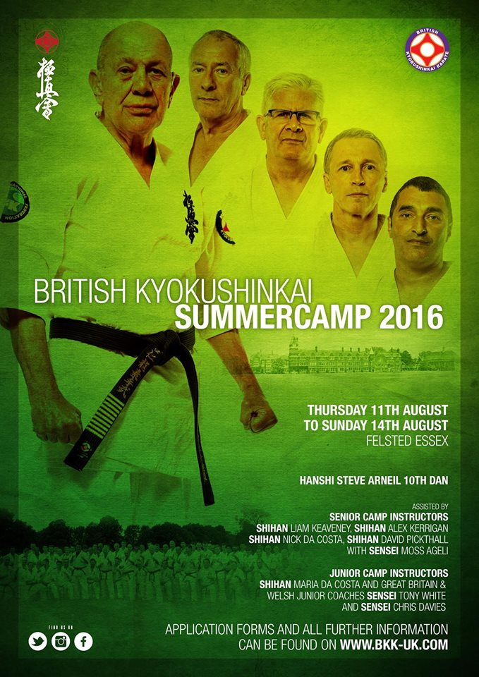 Hanshi Arneil and the BKK Summer Camp instructors will be taking students through their paces.