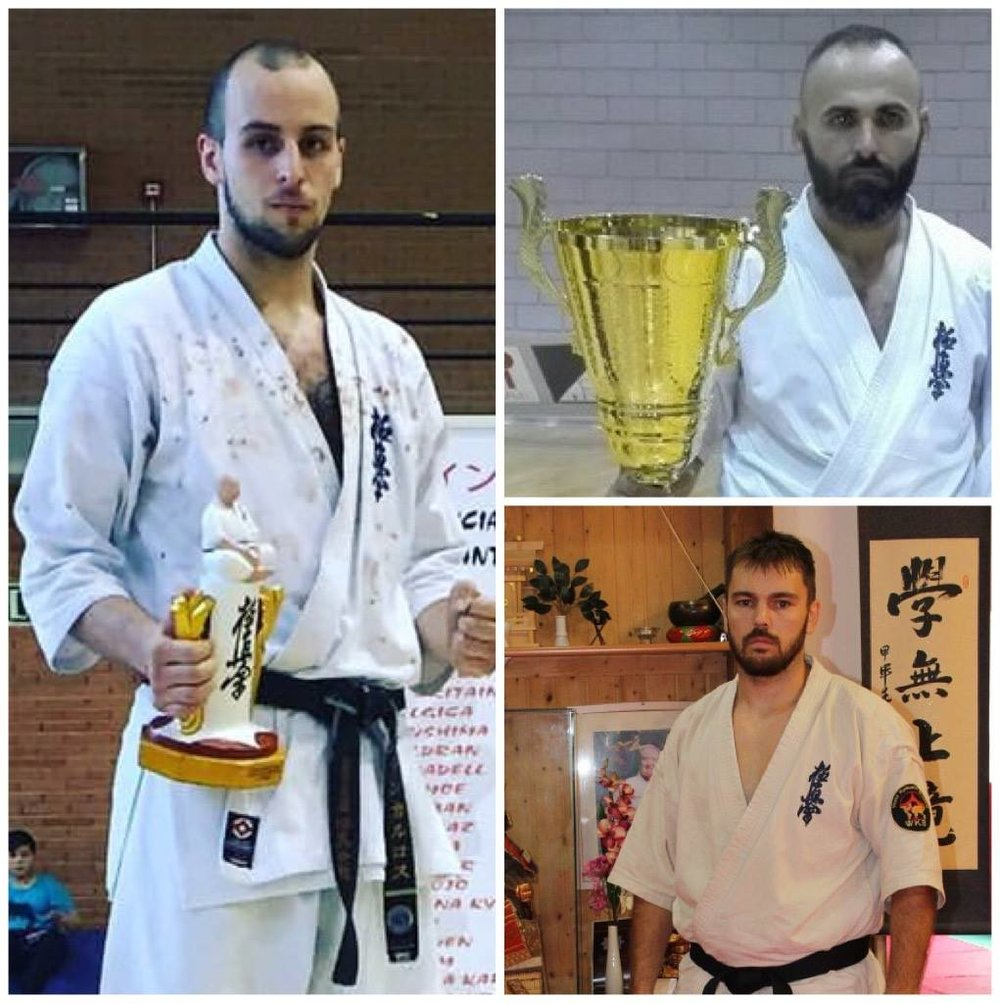 Spain WKB are:  Juan Carlos Auge - Mens MW Valencia Cup IFK Champion 2016 Spain WKB Champion 2016 WKB World Cup 2015 3rd place  Augustin Alcazar - Mens HW WKB World Cup Champion 2015 Kamakura Euro Champion 2015 WKB All American Champion 2015  Juan Crujeiras _ Mens HW Valencia Cup IFK Champion 2016 Sato Juku World Tournament 2016 4th place WKB World Cup 2015 2nd place