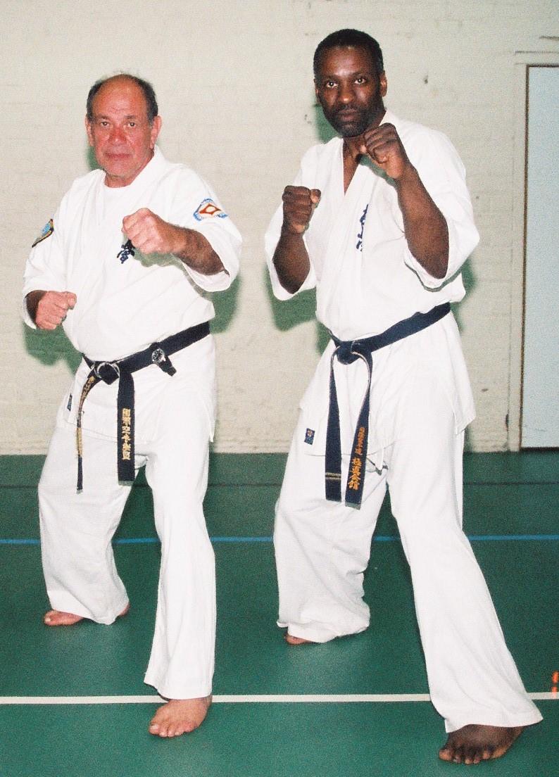 Steve with Hanshi Arneil on passing his Sandan 14/08/2005