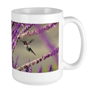 Male Anna's Hummingbird Large Mug $14.99