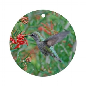 Hummingbird Heaven Ornament (Round) $7.79