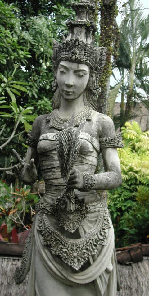 A Statue of Dewi Sri