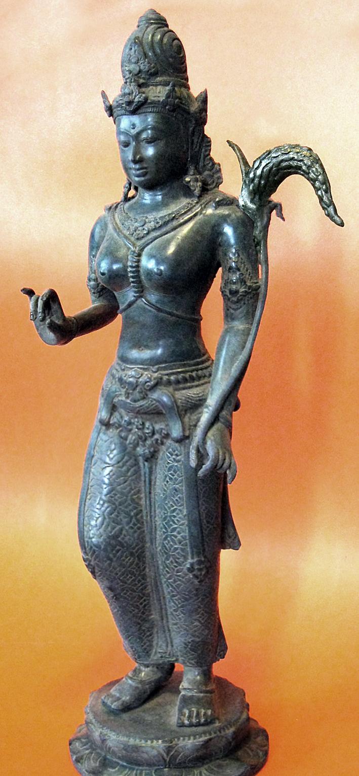 A Bronze Statue of Dewi Sri