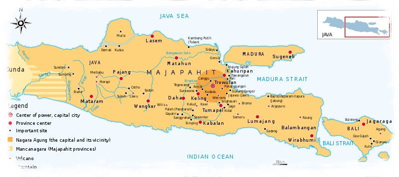 Map of Majapahit Empire