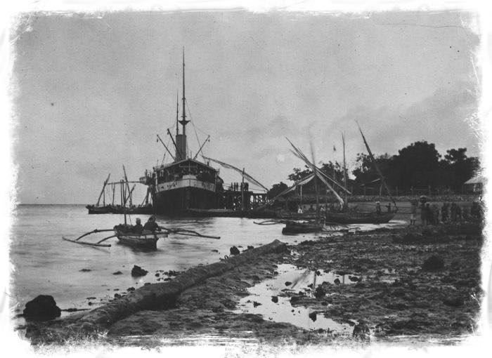 KPM Tourist Steamship SS Both Docked in Bali