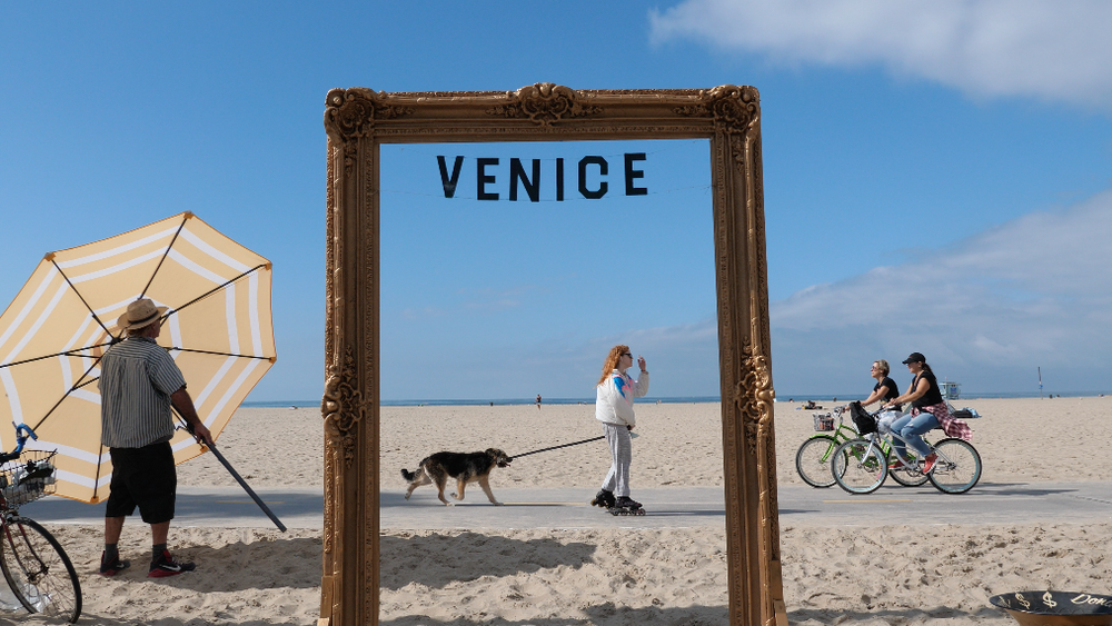 I am traveling around the country photographing people and places for An American Mosaic. This is Venice CA.