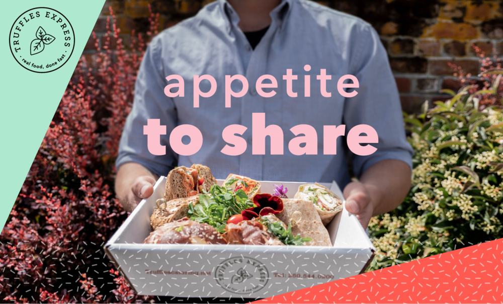 In addition to your 15% off discount, we'll also donate $5 to your charity of choice for your first order. - The Appetite to Share program was created to support our local partner charities.