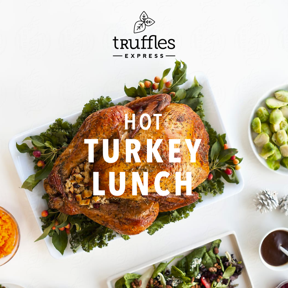 Our hot turkey lunch is back! - Freshly baked and delivered from our oven to your office boardroom