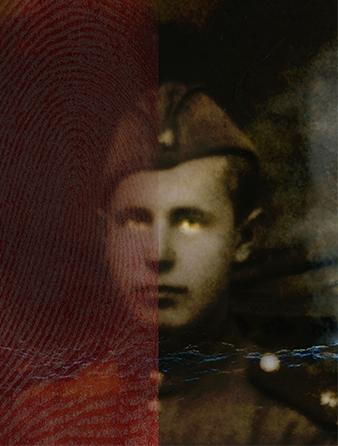 OFFICER 2017MORE 2017 Unique Archival Pigment Print, egg tempera, pigments, wax, damar resin edition 2 AP + 5: 52 X 43 cm Paper/43 X 35,5 cm Image edition 2 AP + 9:25 X 20 cm Paper/12,7 X 10 cm Image