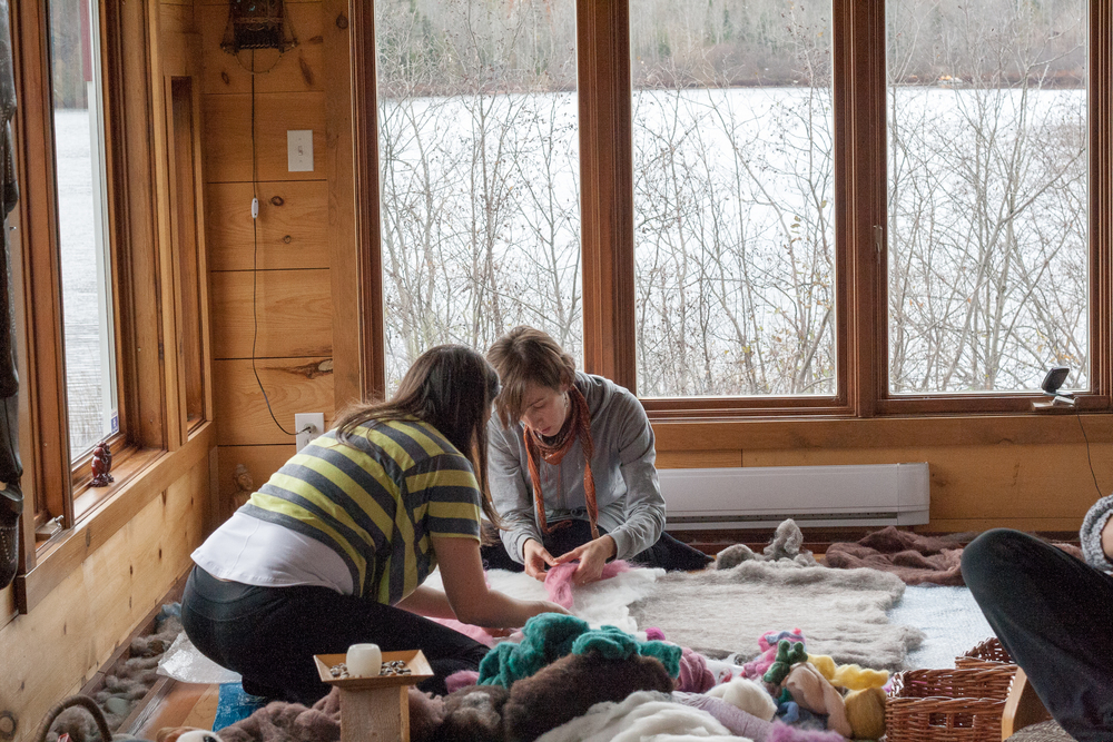 -Michelle Crawley working on a co-creation for a Carolyne Genest's baby shower