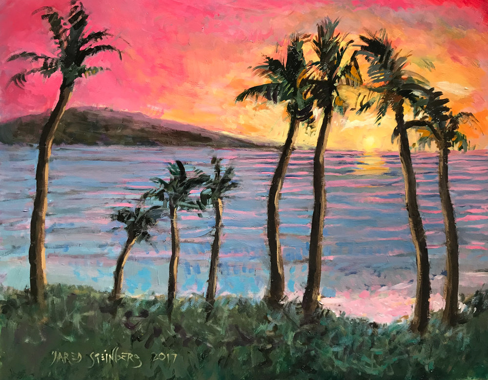 "Here's the final product.  11"" x 14"" - Oil Painting - ""Meditation on Maui"""