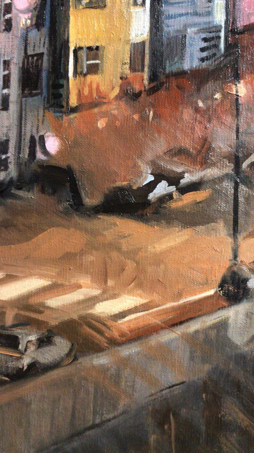 Denver scene, detail
