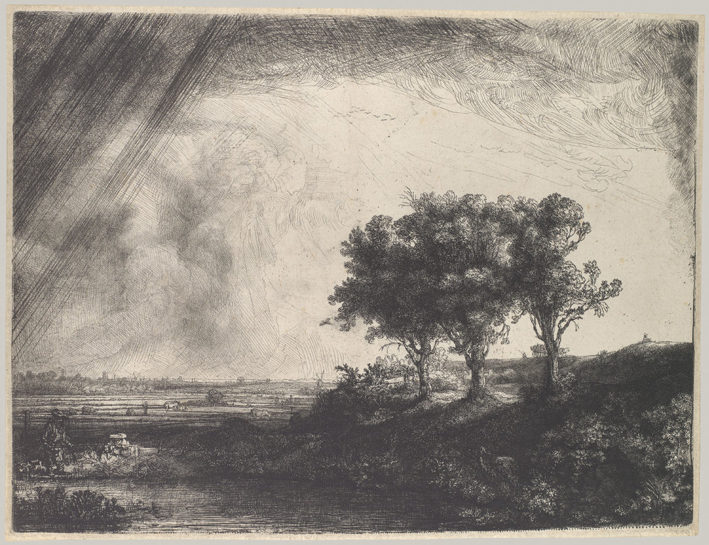 """The Three Trees"" Rembrandt van Rijn"