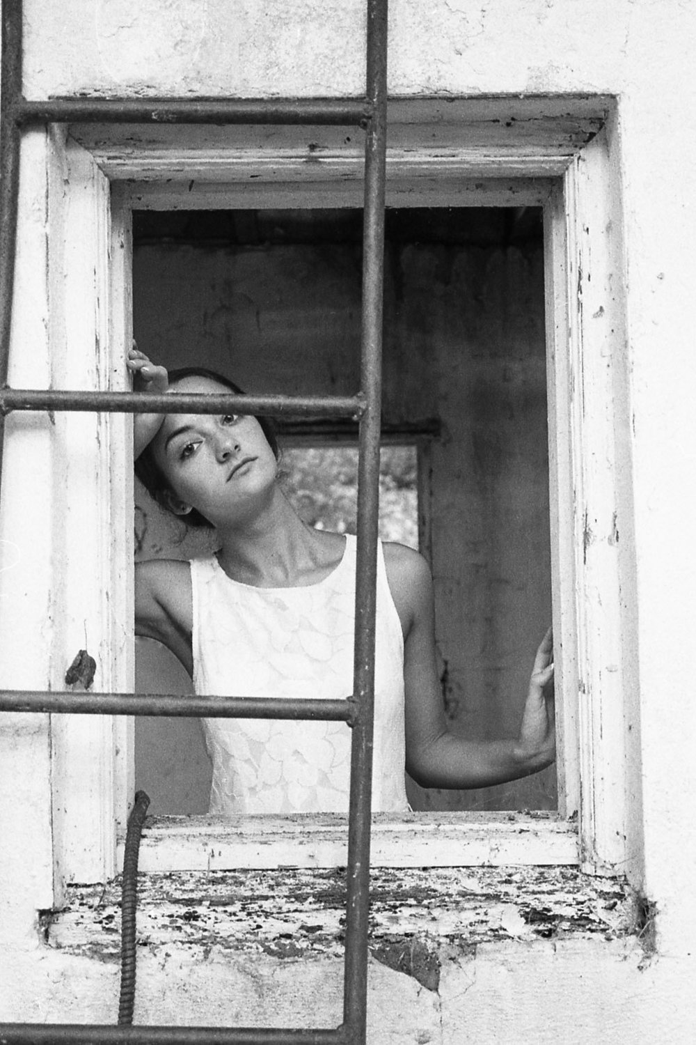 The Girl in the Window -  abandoned building in Daniels Dam, MD