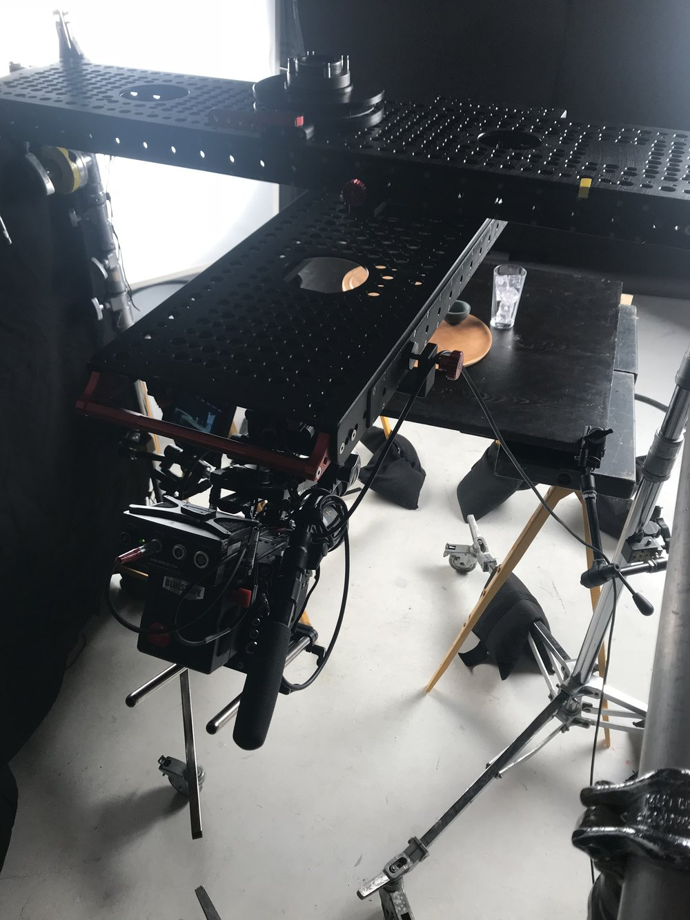 Double inverted slider rig.