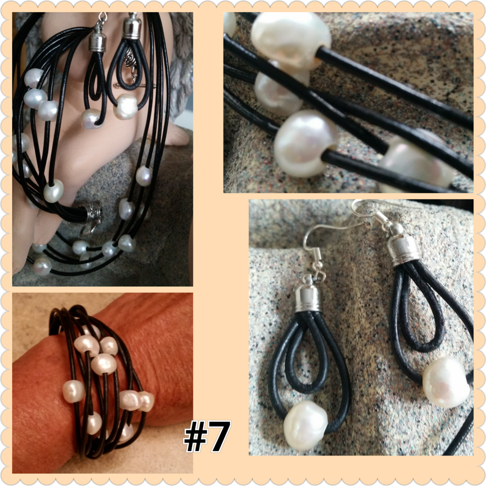 Layers of Leather and Pearls