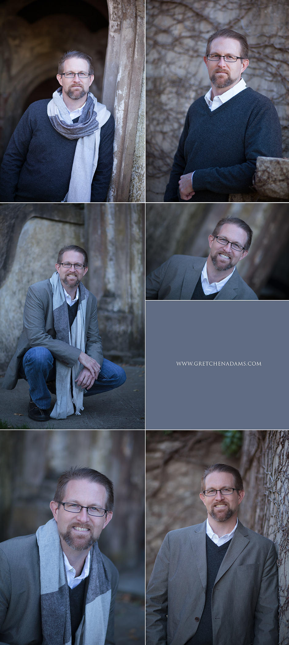 Outdoor business headshots for men SF Bay Area