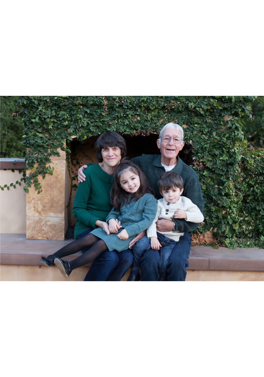 Copy of Copy of grandparents portrait with grandchildren in lafayette, ca