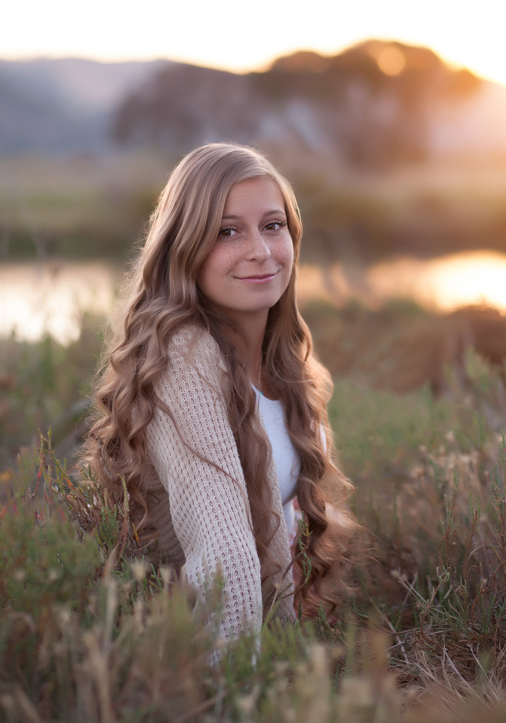 Copy of Copy of high school senior portrait session water setting sun san ramon
