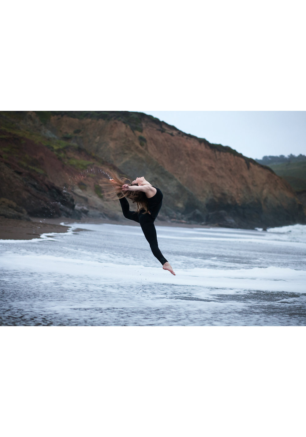 Copy of Copy of high school senior beach dance portrait session marin headlands