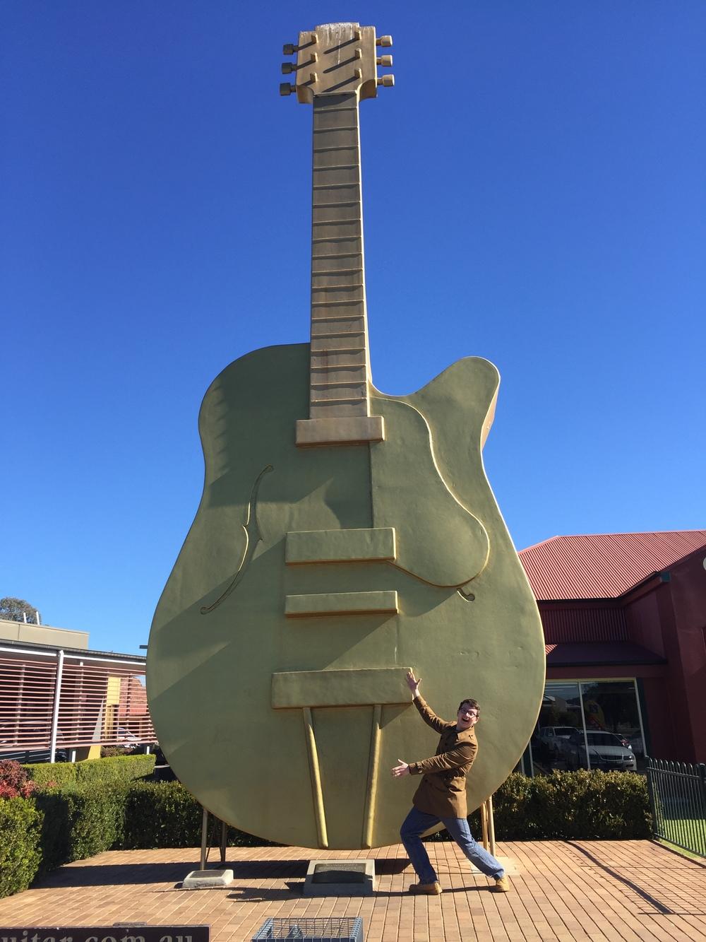 The Big Golden Guitar, Tamworth NSW. Photo: Peter Scott,© 2016.