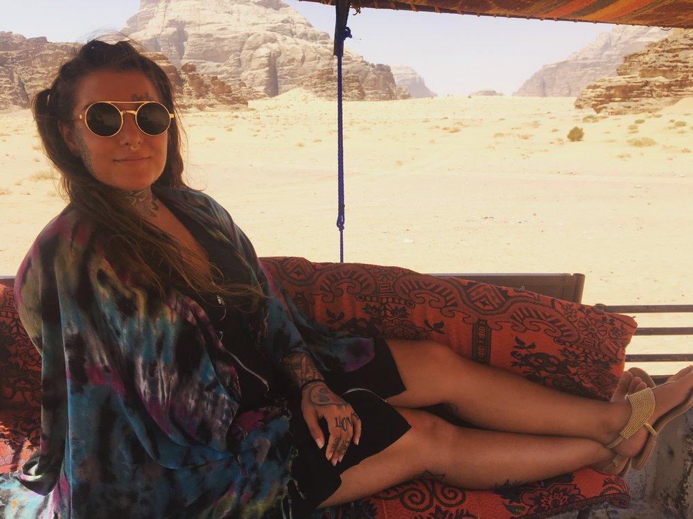 Sun shield in the Wadi Rum desert