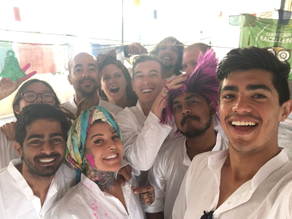I do have this before picture! (Holi Festival, Varanasi, India)