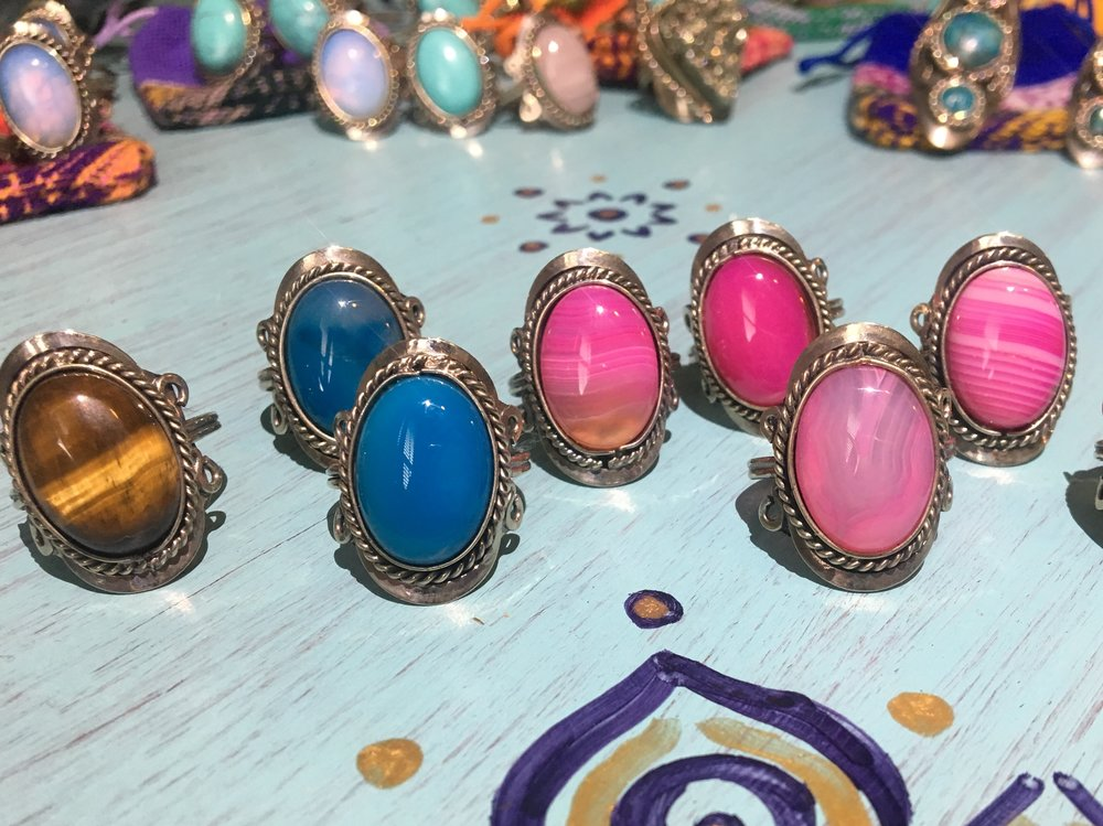 Various single stone (30 USD each) - all are adjustable