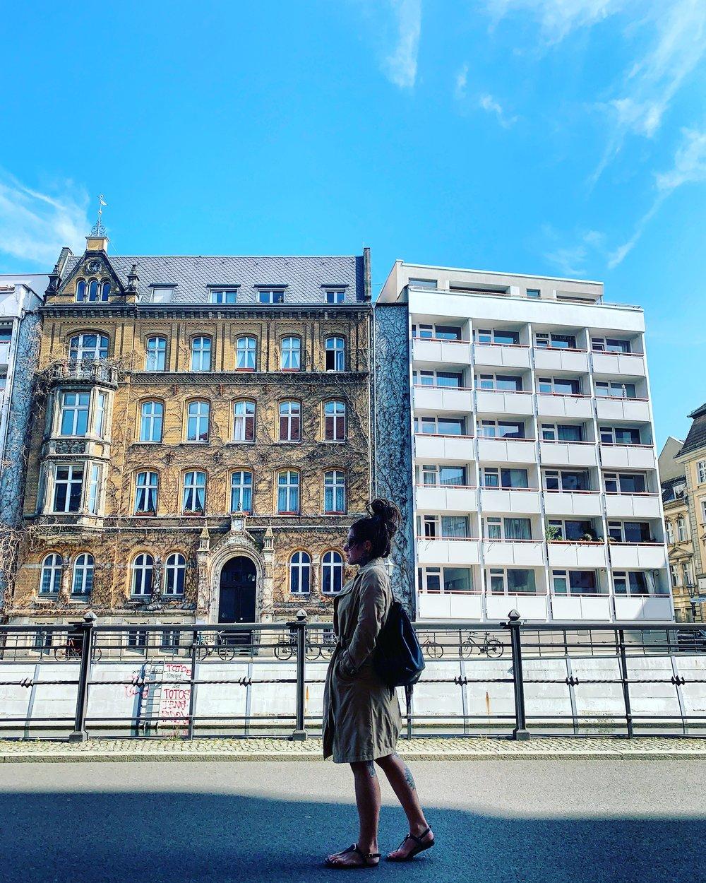 A building I grew fond of upon arrival. Fischerinsel, Berlin.