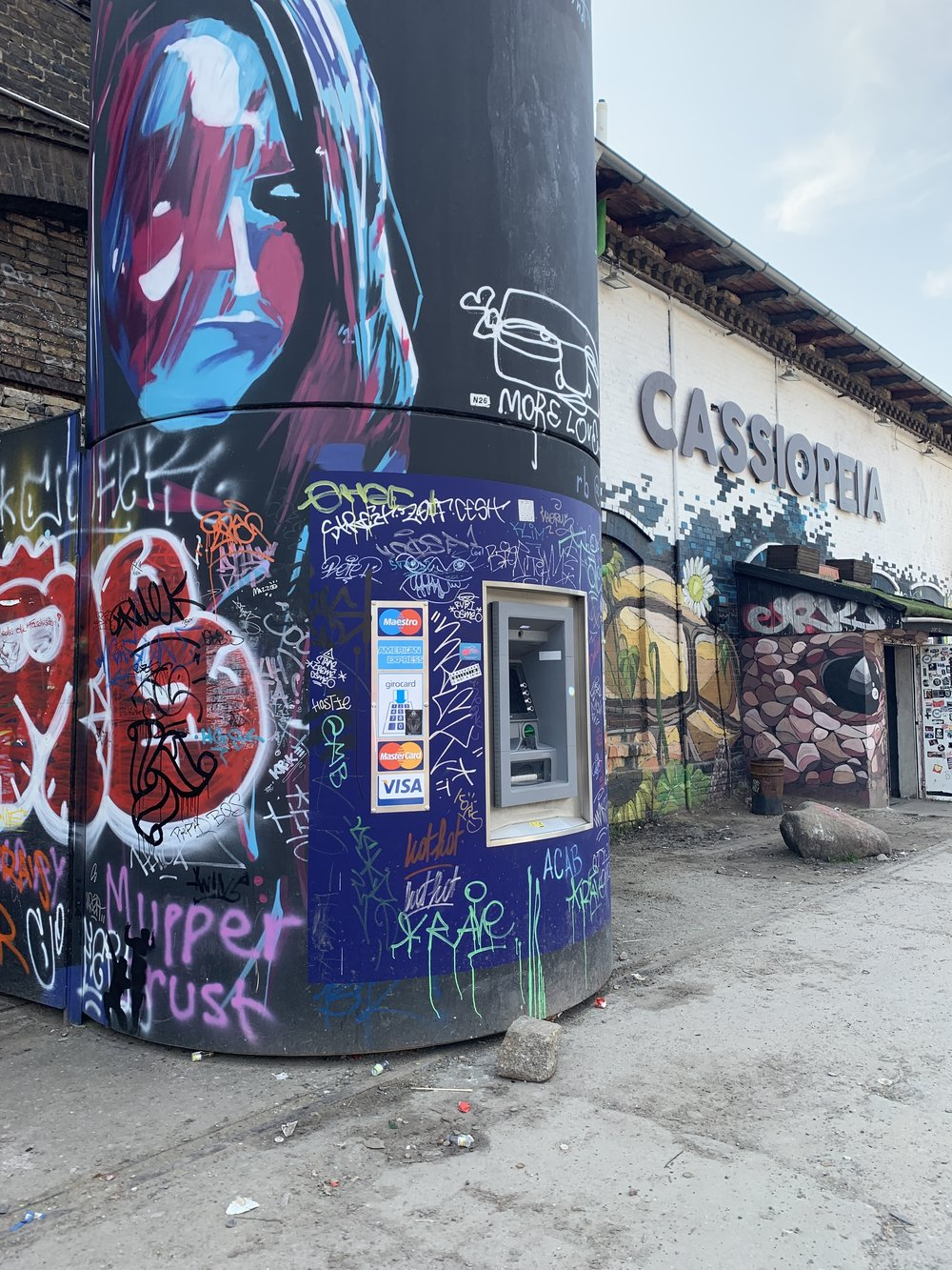 Artsy ATM in the city. Friedrichshain, Berlin.