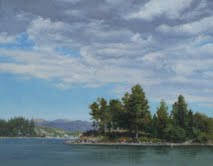 Long Pine Island, by Linda Brown Lake Arrowhead, Ceder Glen, Artist, First Fridays