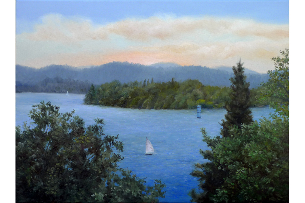 Julie-R-Evans-Oil-Lake-Arrowhead-Outlet-Tower-18x24