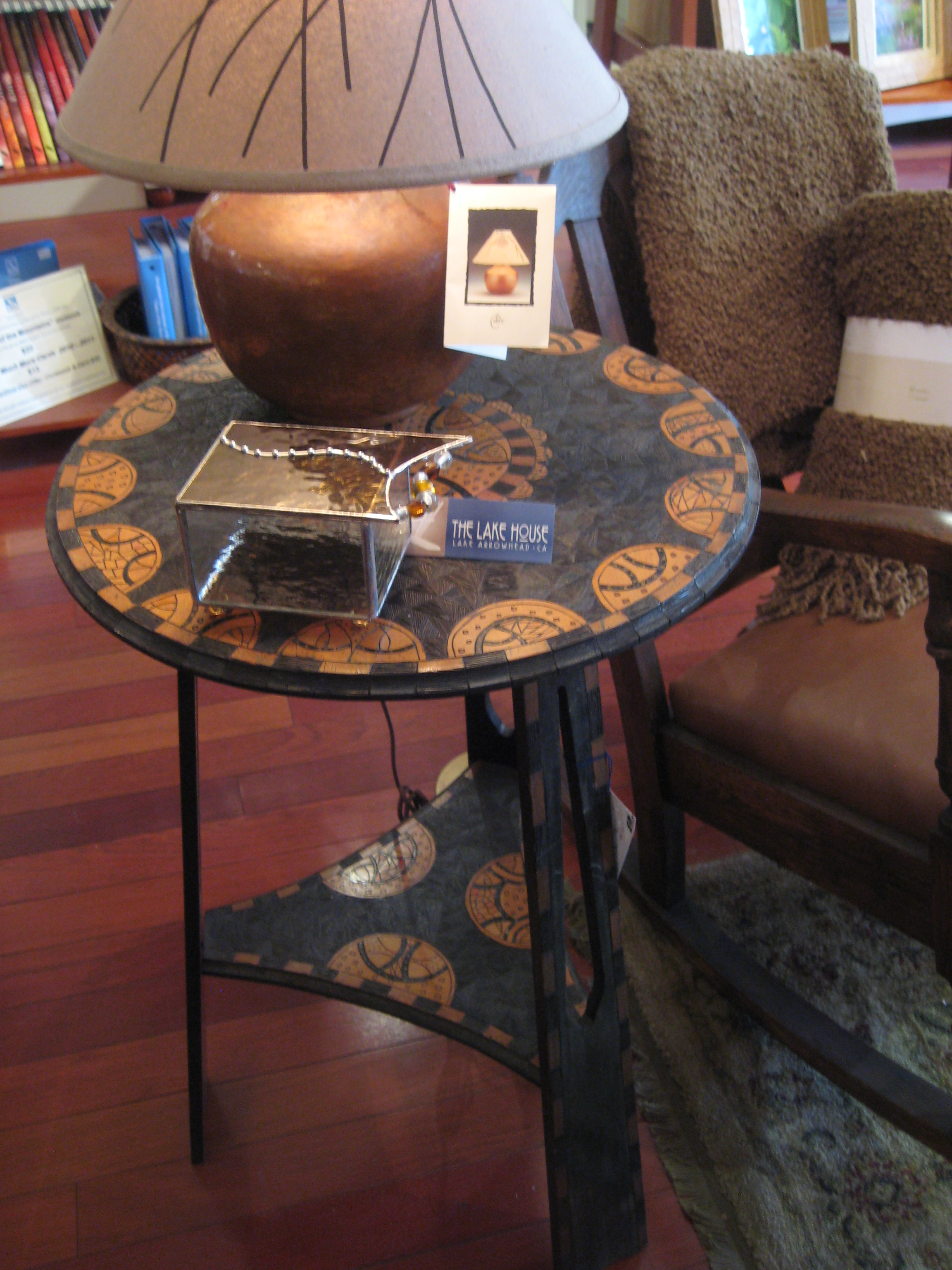 Handcrafted end table craftsman antique