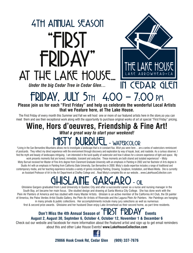 First Friday July 5th