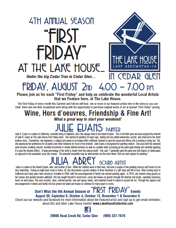First Friday Aug 2nd