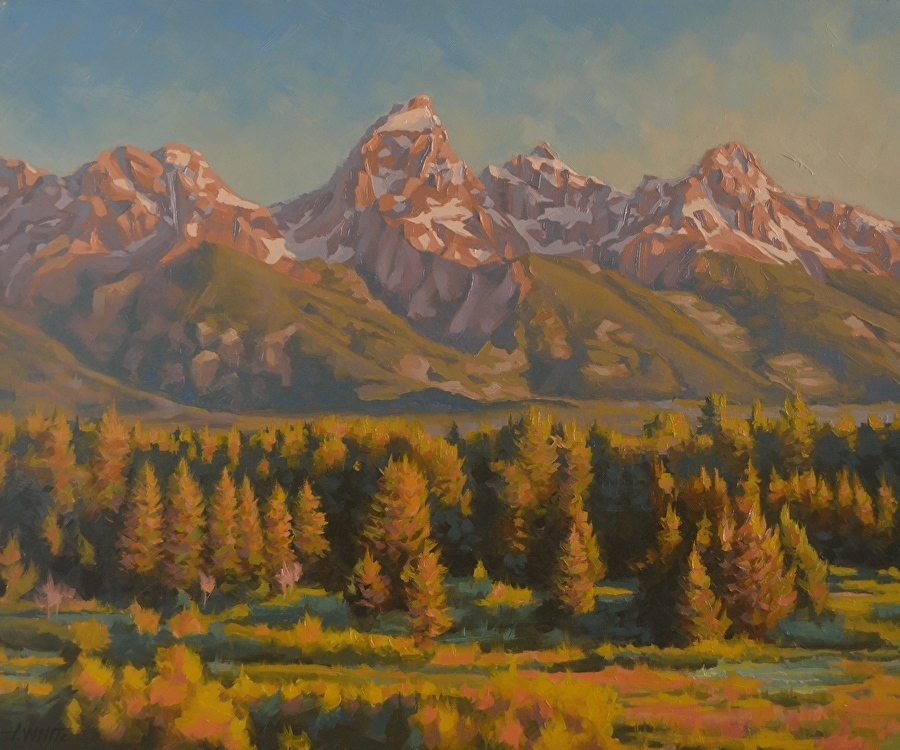 Sunrise With the Grand Tetons - John White